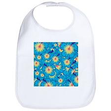 Light blue hibiscus Bib
