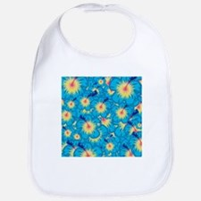 Light blue hibiscus Bib