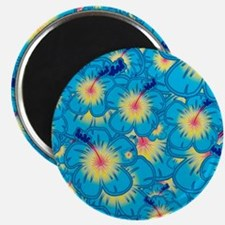 Light blue hibiscus Magnets