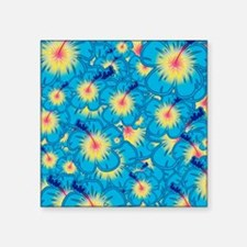 Light blue hibiscus Sticker