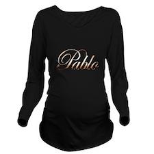 Gold Pablo Long Sleeve Maternity T-Shirt