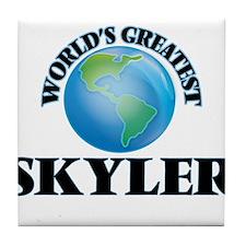 World's Greatest Skyler Tile Coaster