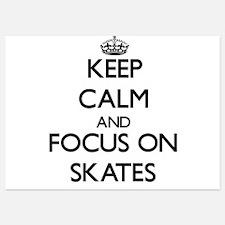Keep Calm and focus on Skates Invitations