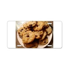 chocochip cookies Aluminum License Plate