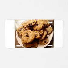 chocochip cookies Aluminum License Plate