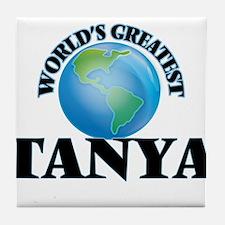 World's Greatest Tanya Tile Coaster