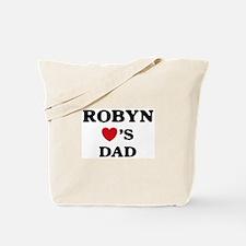 Robyn loves dad Tote Bag