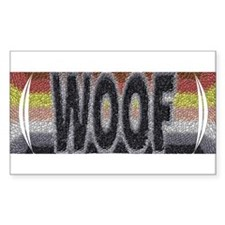BEAR PRIDE WOOF W/CUTOUT Rectangle Decal
