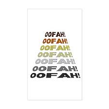 BEAR PRIDE COLORS-OOFAH! Rectangle Decal