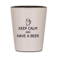 KEEP CALM AND HAVE A BEER Shot Glass