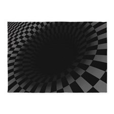 Black Hole 5'x7'area Rug