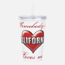 Somebody In California Acrylic Double-wall Tumbler