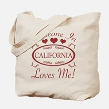 Somebody In California Loves Me Tote Bag
