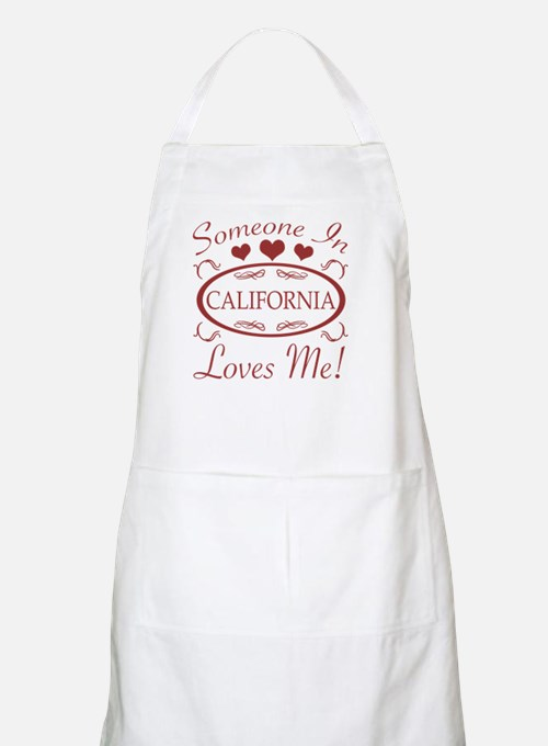 Somebody In California Loves Me Apron