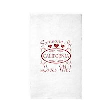 Somebody In California Loves Me 3'x5' Area Rug