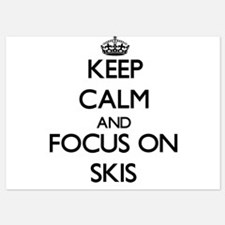 Keep Calm and focus on Skis Invitations