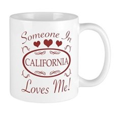Somebody In California Loves Me Mugs
