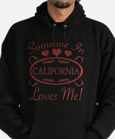 Somebody In California Loves Me Hoodie (dark)