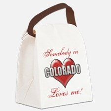Somebody In Colorado Loves Me Canvas Lunch Bag
