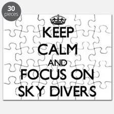 Keep Calm and focus on Sky Divers Puzzle