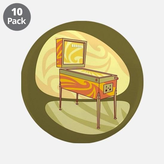 """Pinball 3.5"""" Button (10 pack)"""