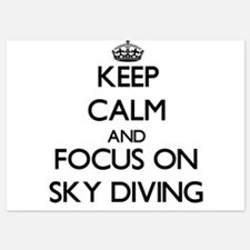 Keep Calm and focus on Sky Diving Invitations