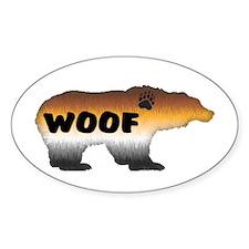 FURRY PRIDE BEAR/WOOF Oval Decal