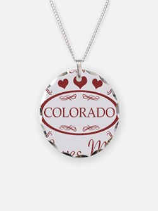 Somebody In Colorado Loves M Necklace