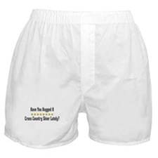 Hugged Cross Country Skier Boxer Shorts