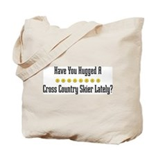Hugged Cross Country Skier Tote Bag