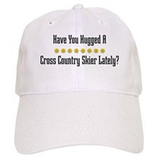 Hugged Cross Country Skier Baseball Cap