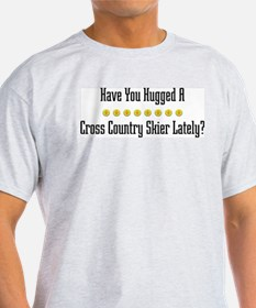 Hugged Cross Country Skier T-Shirt
