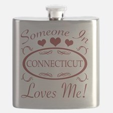 Somebody In Connecticut Loves Me Flask