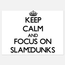 Keep Calm and focus on Slam-Dunks Invitations