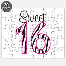 Sweet 16 Zebra Pink Puzzle
