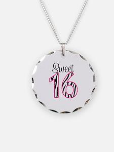 Sweet 16 Zebra Pink Necklace