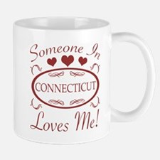 Somebody In Connecticut Loves Me Mugs