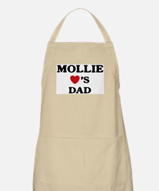 Mollie loves dad BBQ Apron