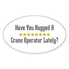Hugged Crane Operator Oval Bumper Stickers