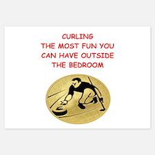 curling,curler Invitations