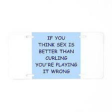 curling Aluminum License Plate