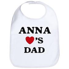 Anna loves dad Bib