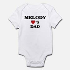 Melody loves dad Infant Bodysuit