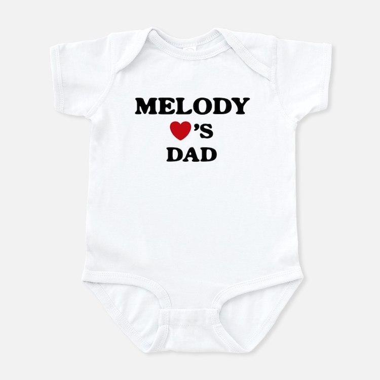 Melody loves dad Infant Bodysuit