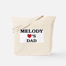 Melody loves dad Tote Bag