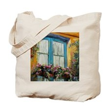 Window in Assisi by Chris Brandley Tote Bag