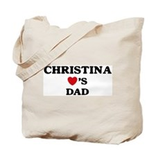 Christina loves dad Tote Bag