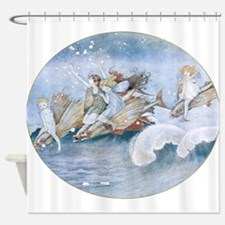 Sea Fairies Kids Shower Curtain