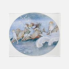 Sea Fairies Kids Throw Blanket
