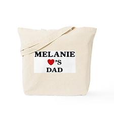 Melanie loves dad Tote Bag